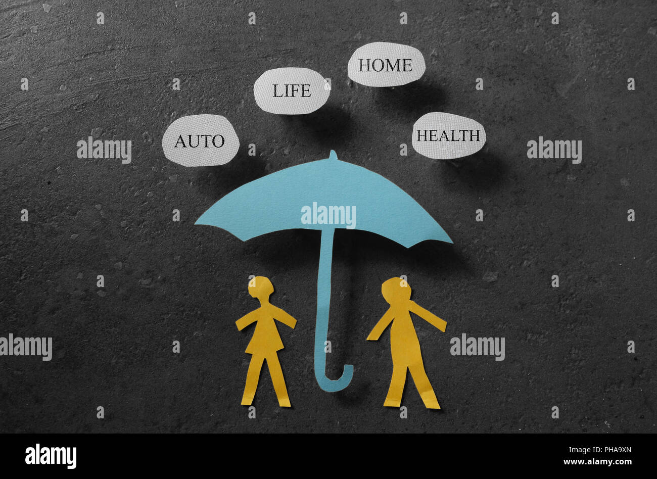 Insurance coverage concept - Stock Image