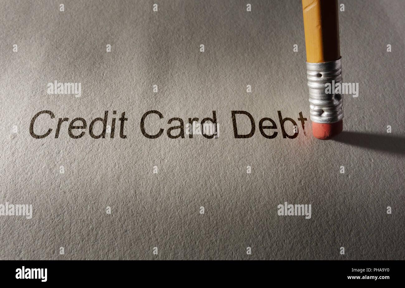 Credit card debt fix - Stock Image