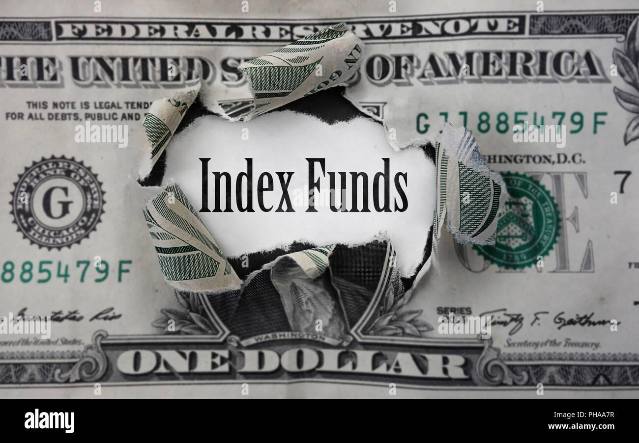 Index Funds money - Stock Image