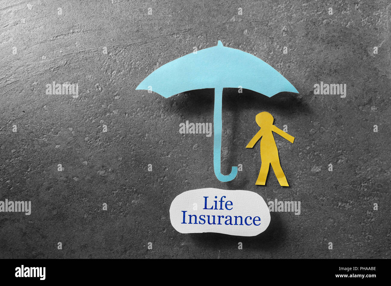 Life Insurance coverage - Stock Image