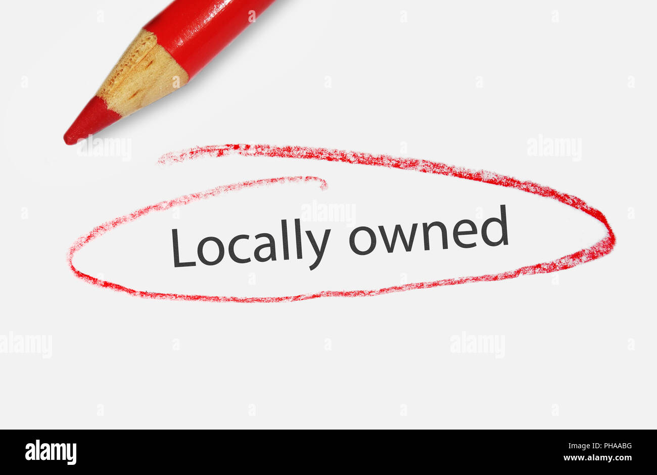 locally owned - Stock Image