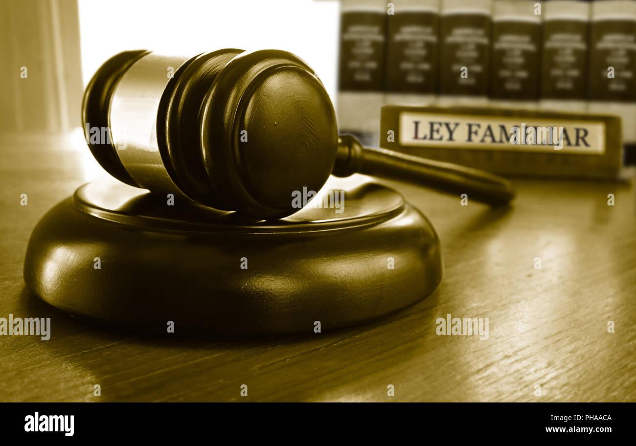 Ley Familiar gavel - Stock Image