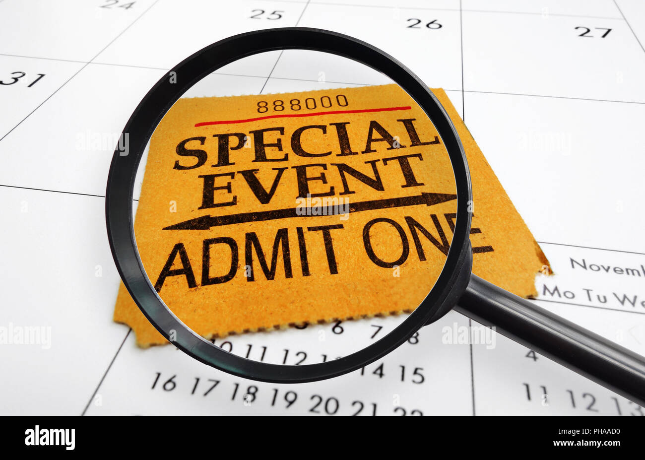 event ticket search - Stock Image