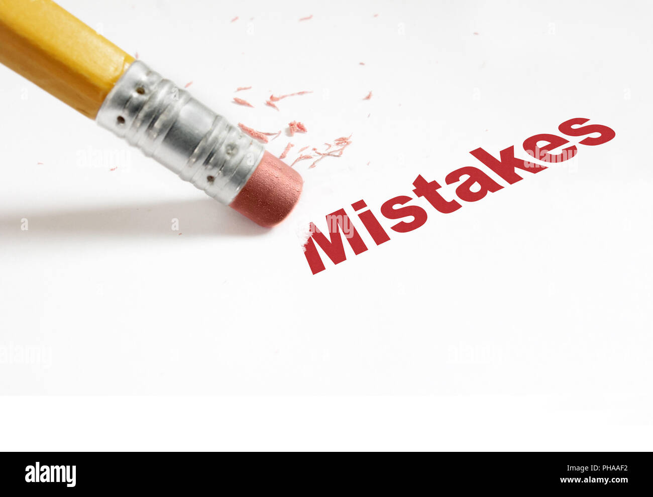 edit mistakes red - Stock Image