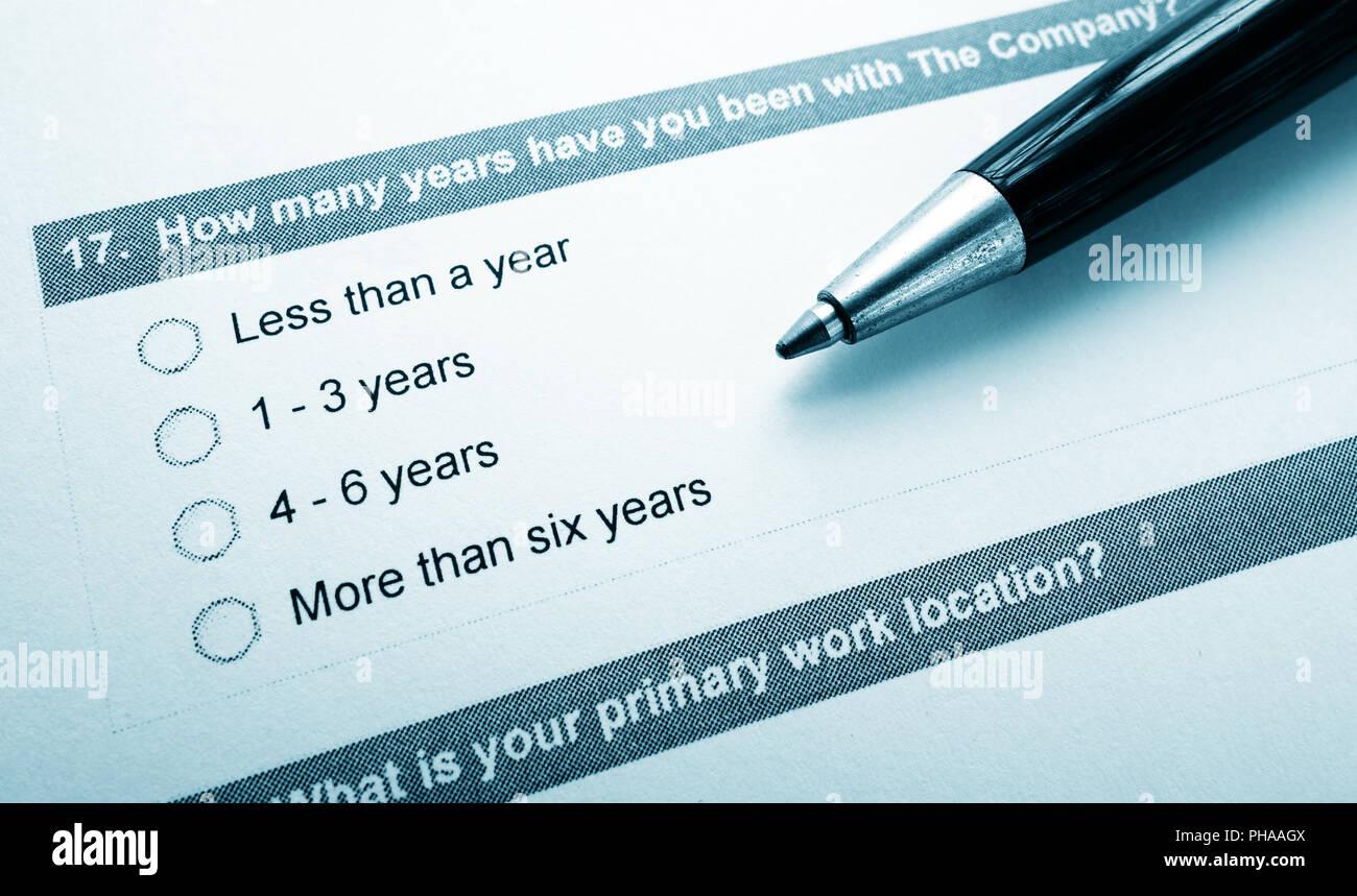Opinion survey - Stock Image