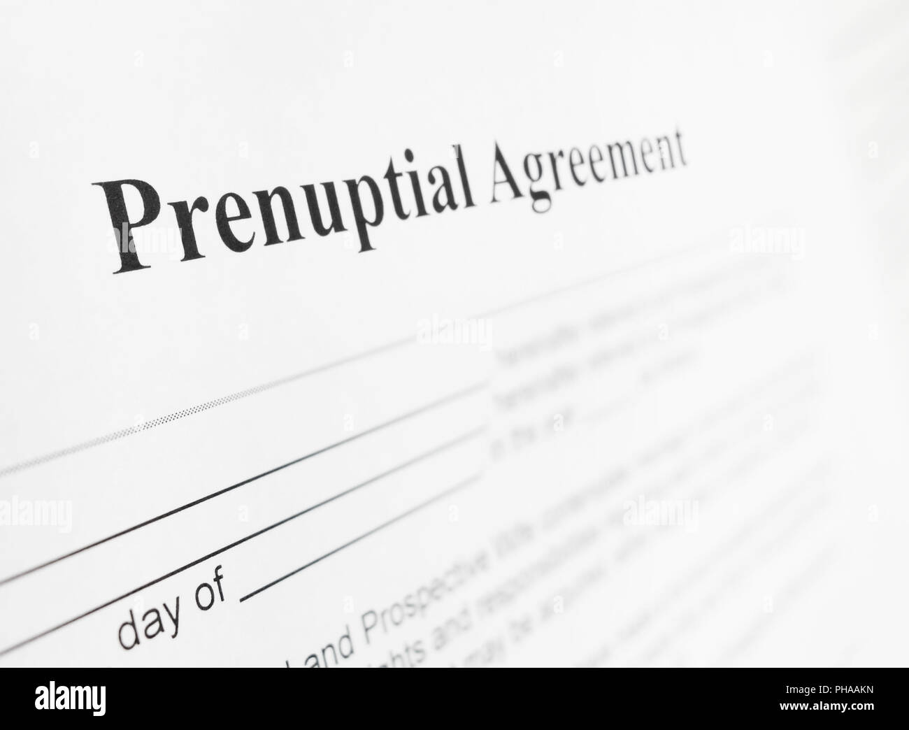 Prenup Agreement Stock Photos Prenup Agreement Stock Images Alamy