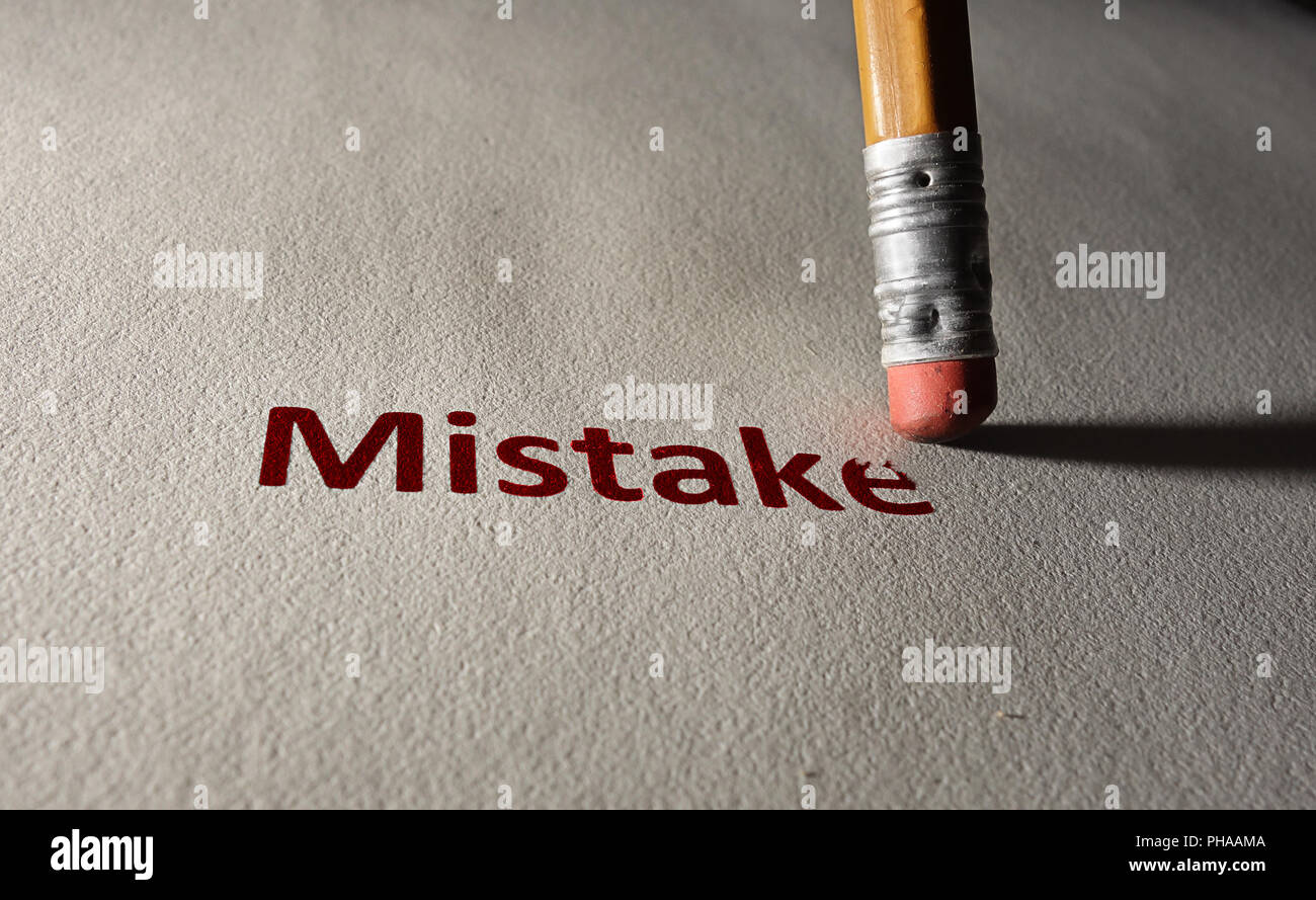 Red mistake - Stock Image
