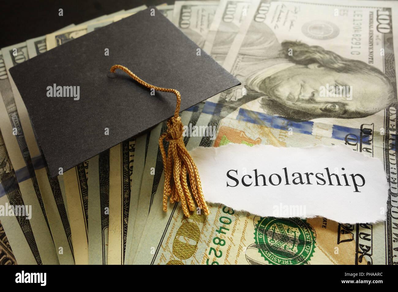 Scholarship note - Stock Image
