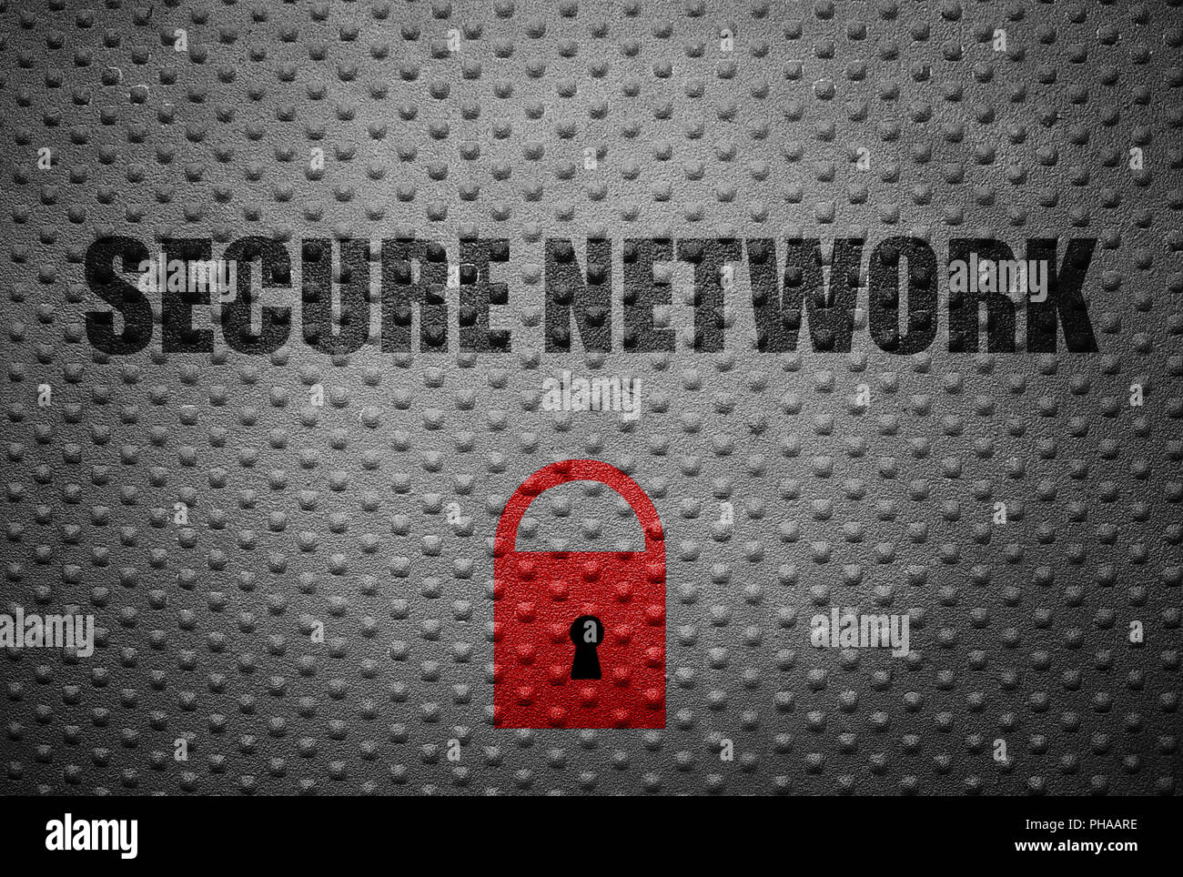 Secure computer network concept Stock Photo