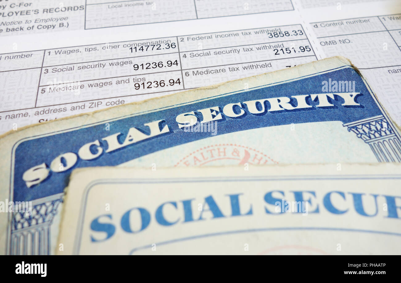 SS and wages - Stock Image
