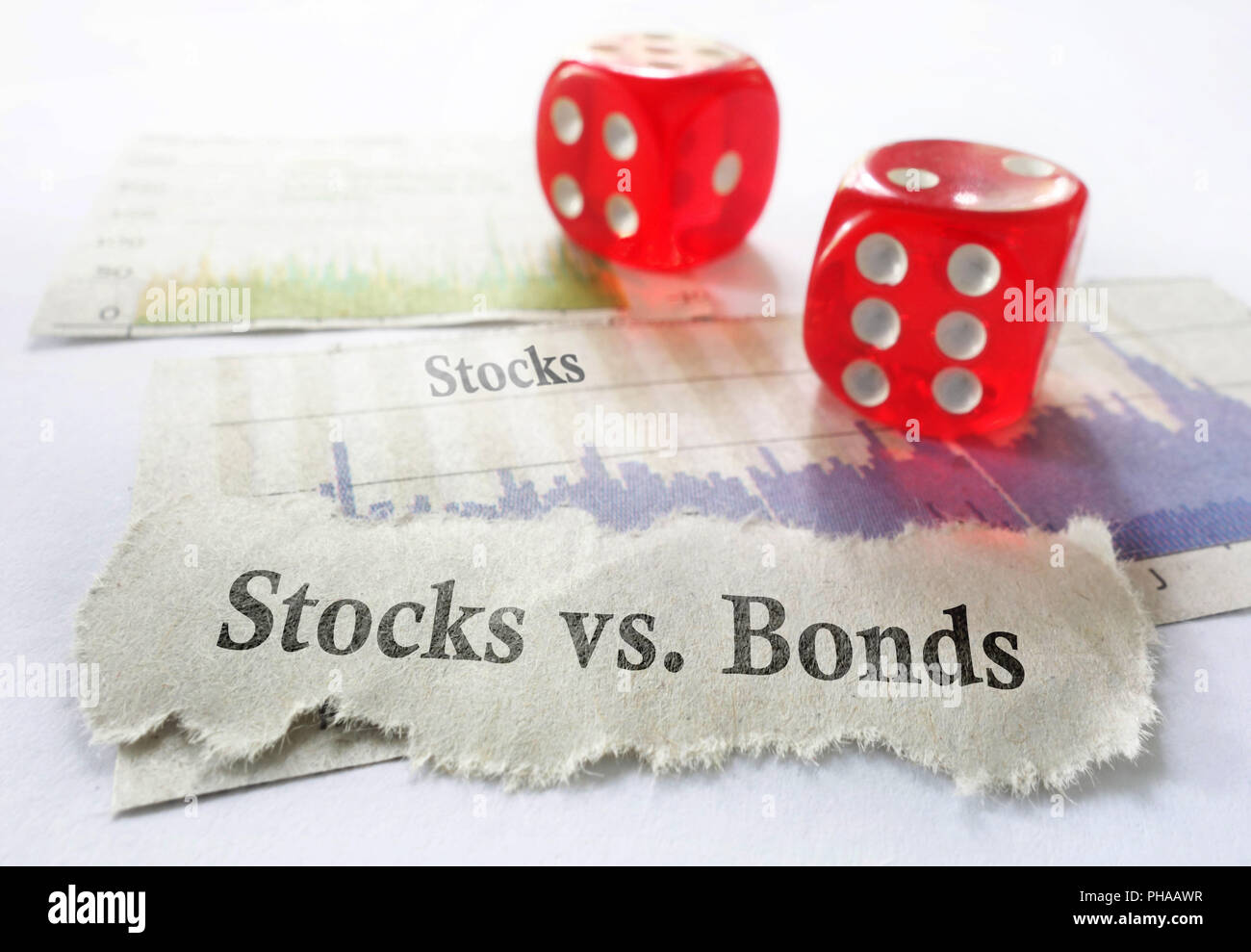 Stocks or Bonds - Stock Image