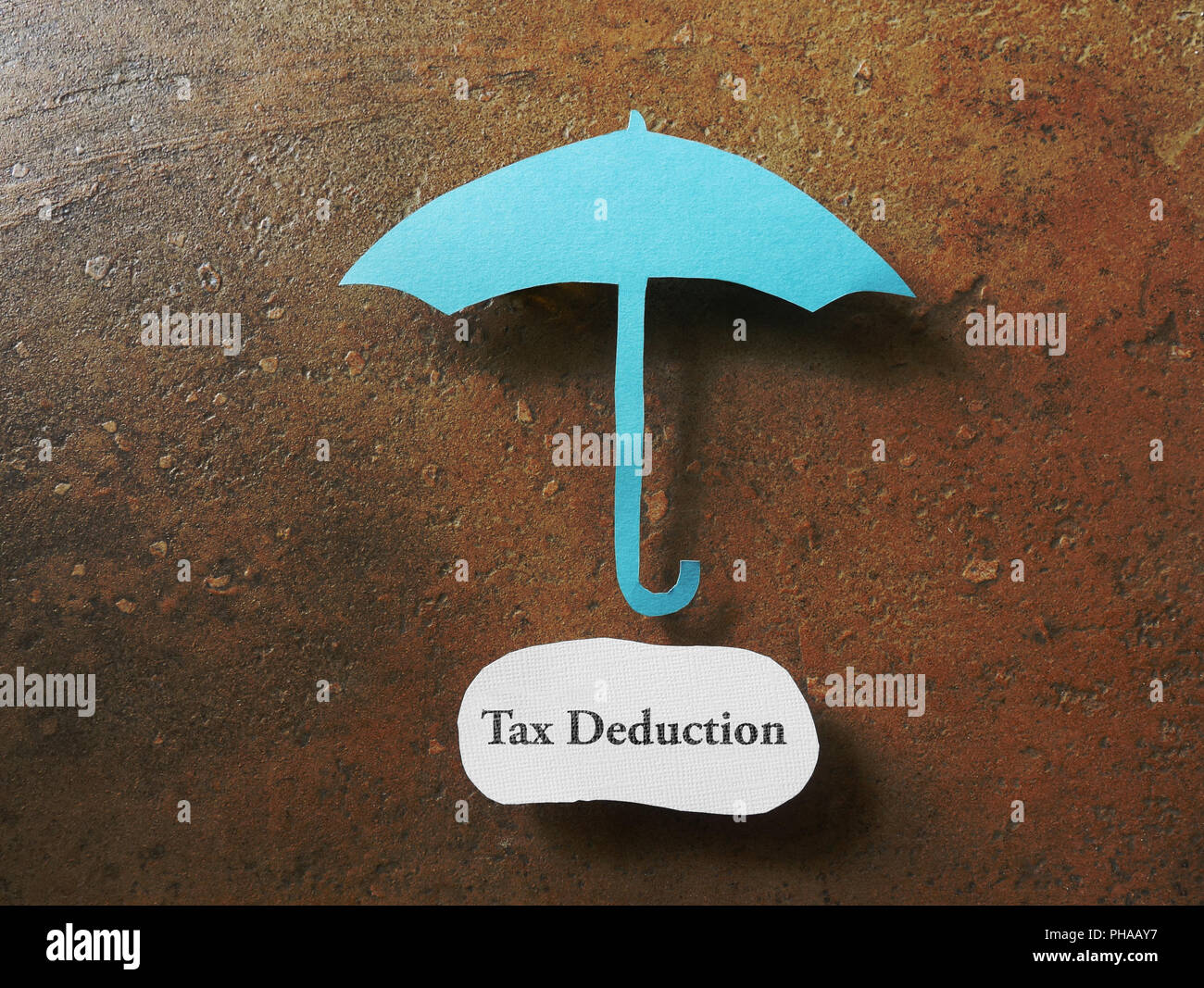 Tax deduction concept - Stock Image