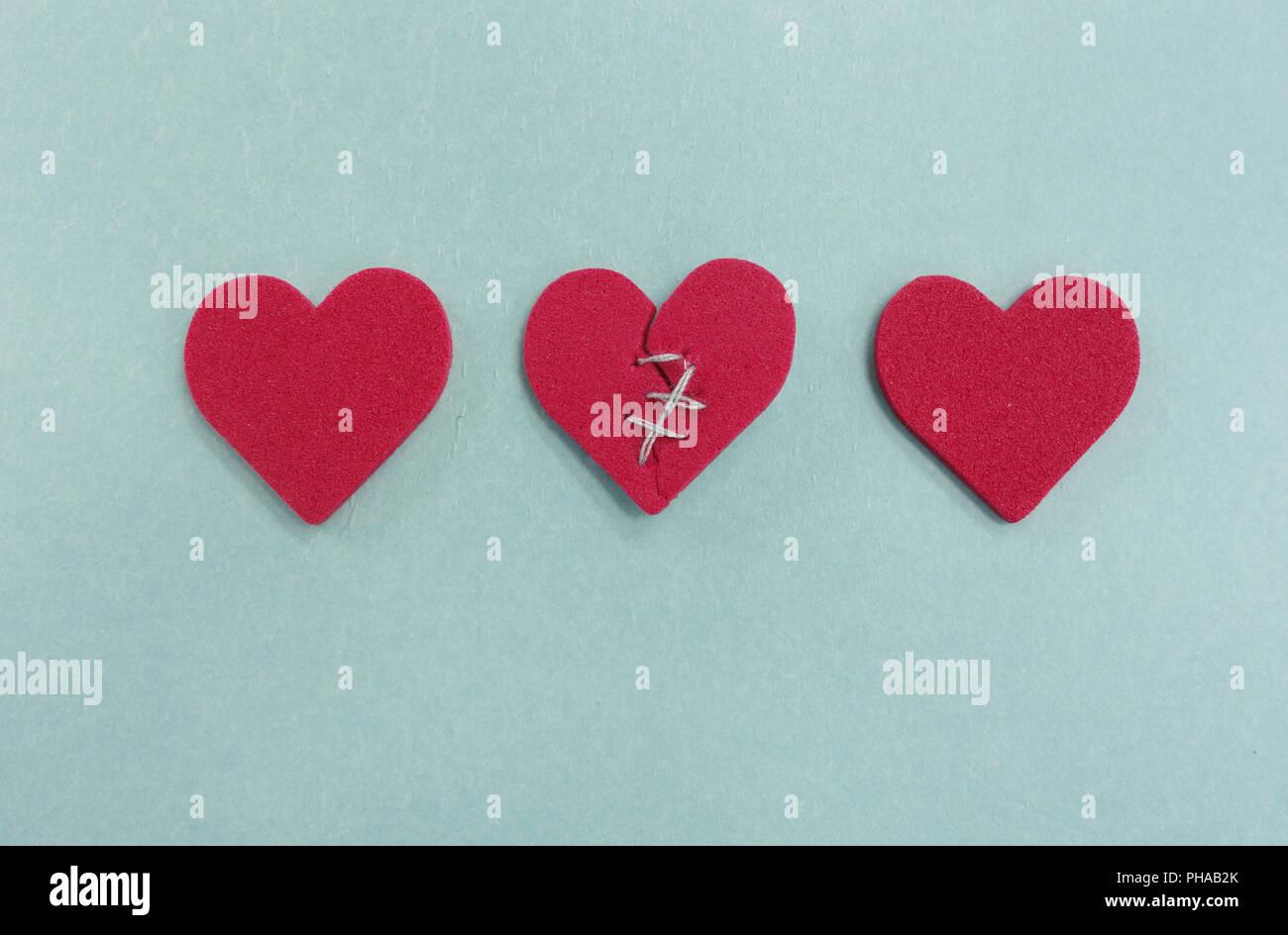 Three Hearts Stock Image
