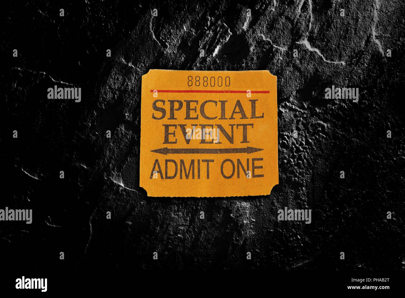 Special Event ticket stub - Stock Image