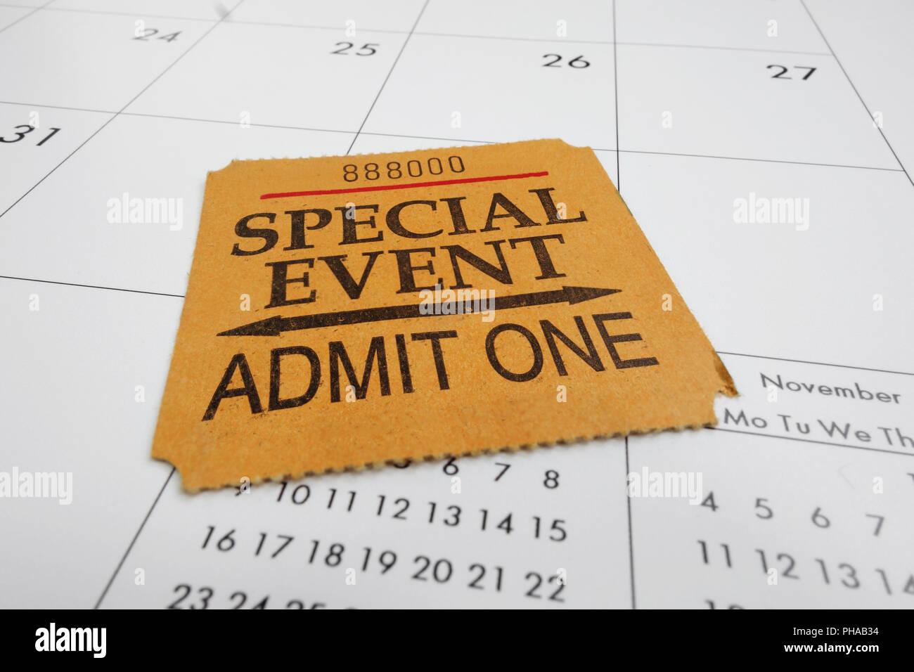 ticket stub - Stock Image