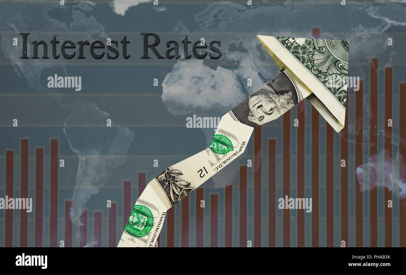 Rising interest rates - Stock Image