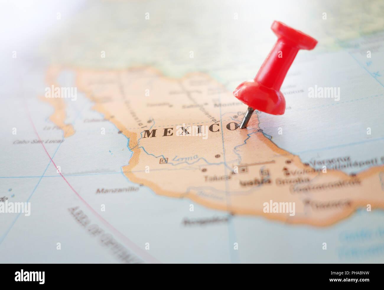 Mexico Map Pin Stock Photos & Mexico Map Pin Stock Images - Alamy