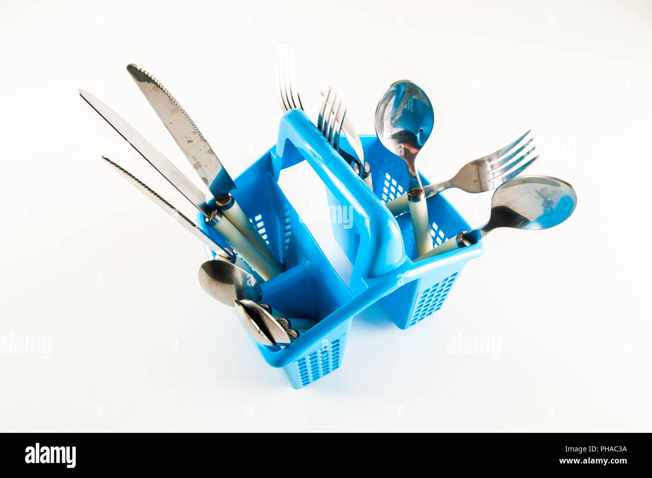 Plastic kitchen utensils - Stock Image
