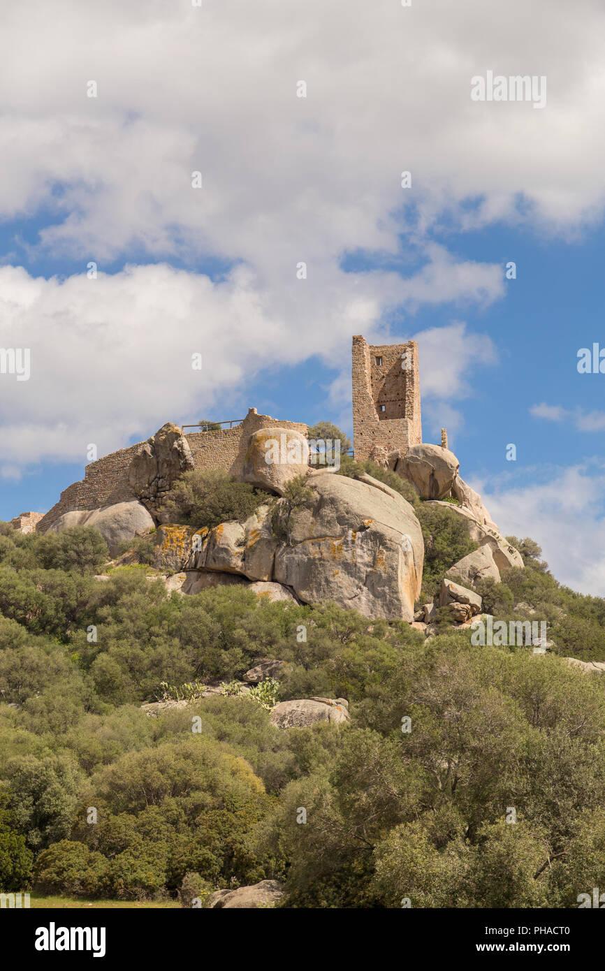 Castle of Pedres - Olbia Sardinia - Stock Image