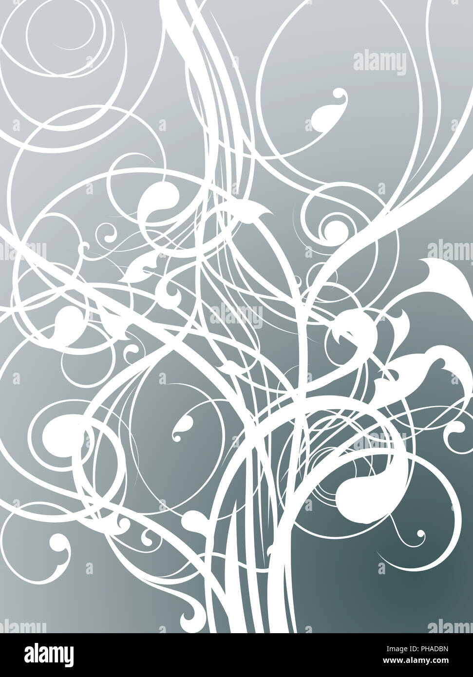 nature abstract floral swirls - Stock Image