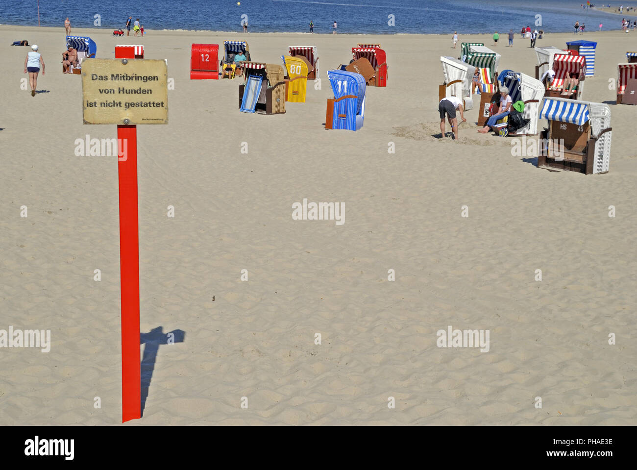 beach, indication - Stock Image