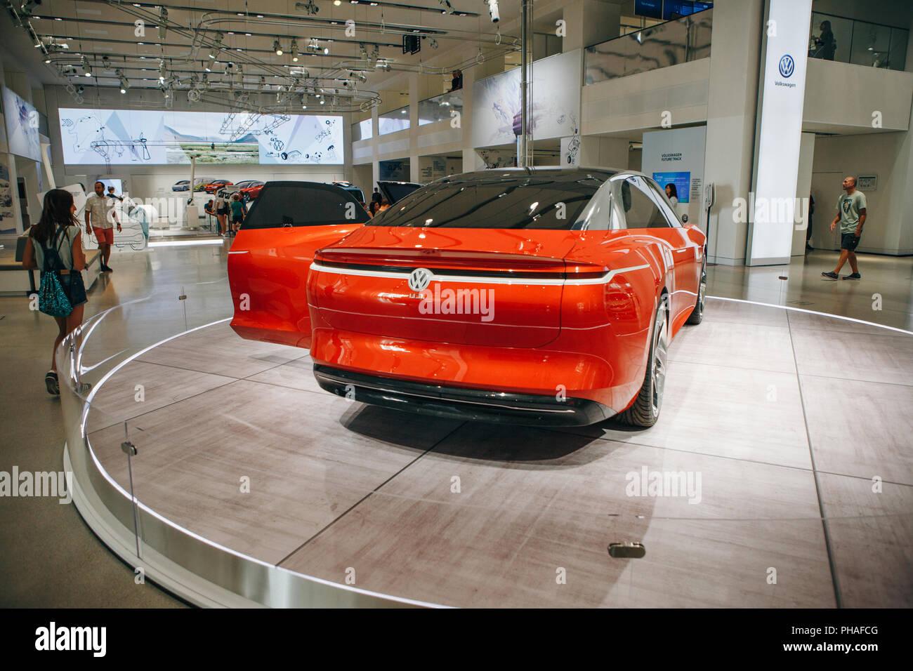 Berlin August 29 2018 The New Volkswagen I D Vizzion Concept