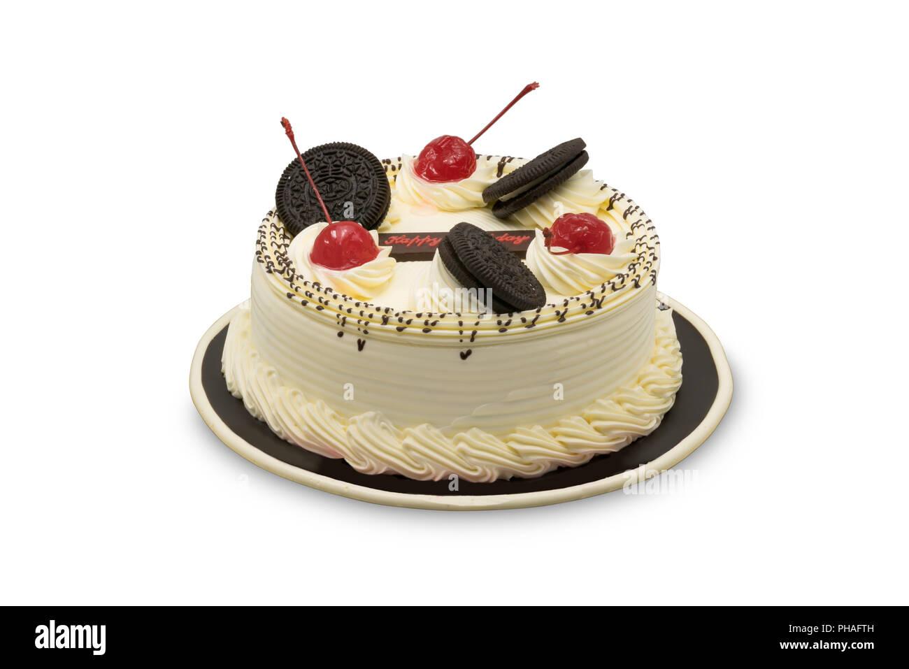 Delicious Birthday Cake Stock Photo 217205537