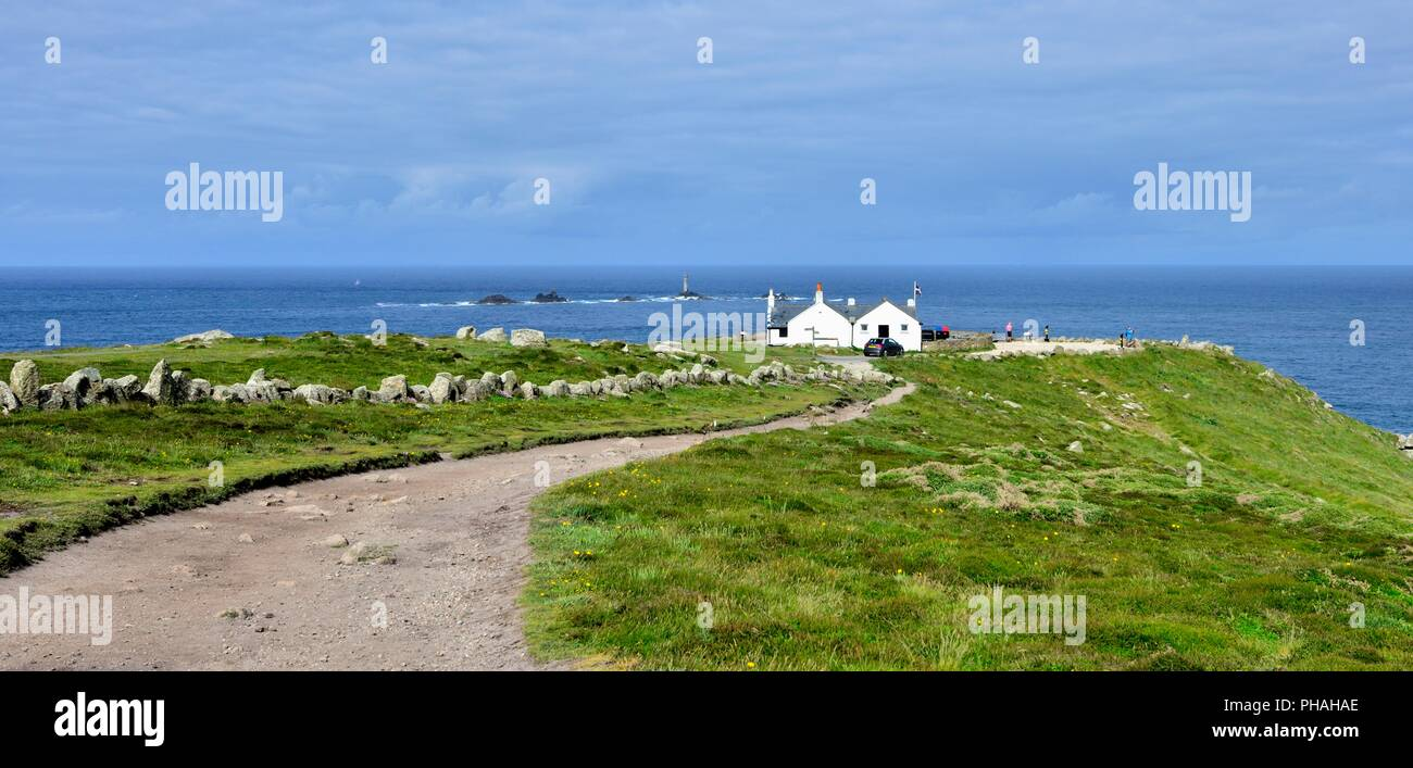 First and Last House,Lands End,Cornwall,England,UK - Stock Image