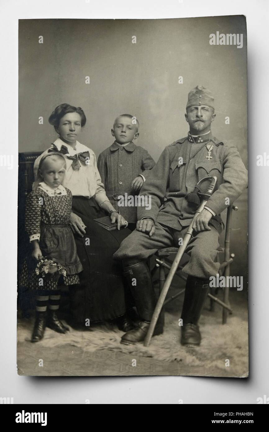 Old family photo, about 1915 Stock Photo - Alamy