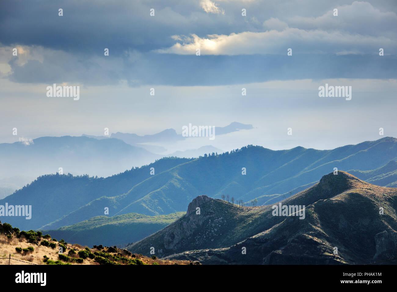 The central mountains and Ponta de São Lourenço. Madeira, Portugal - Stock Image