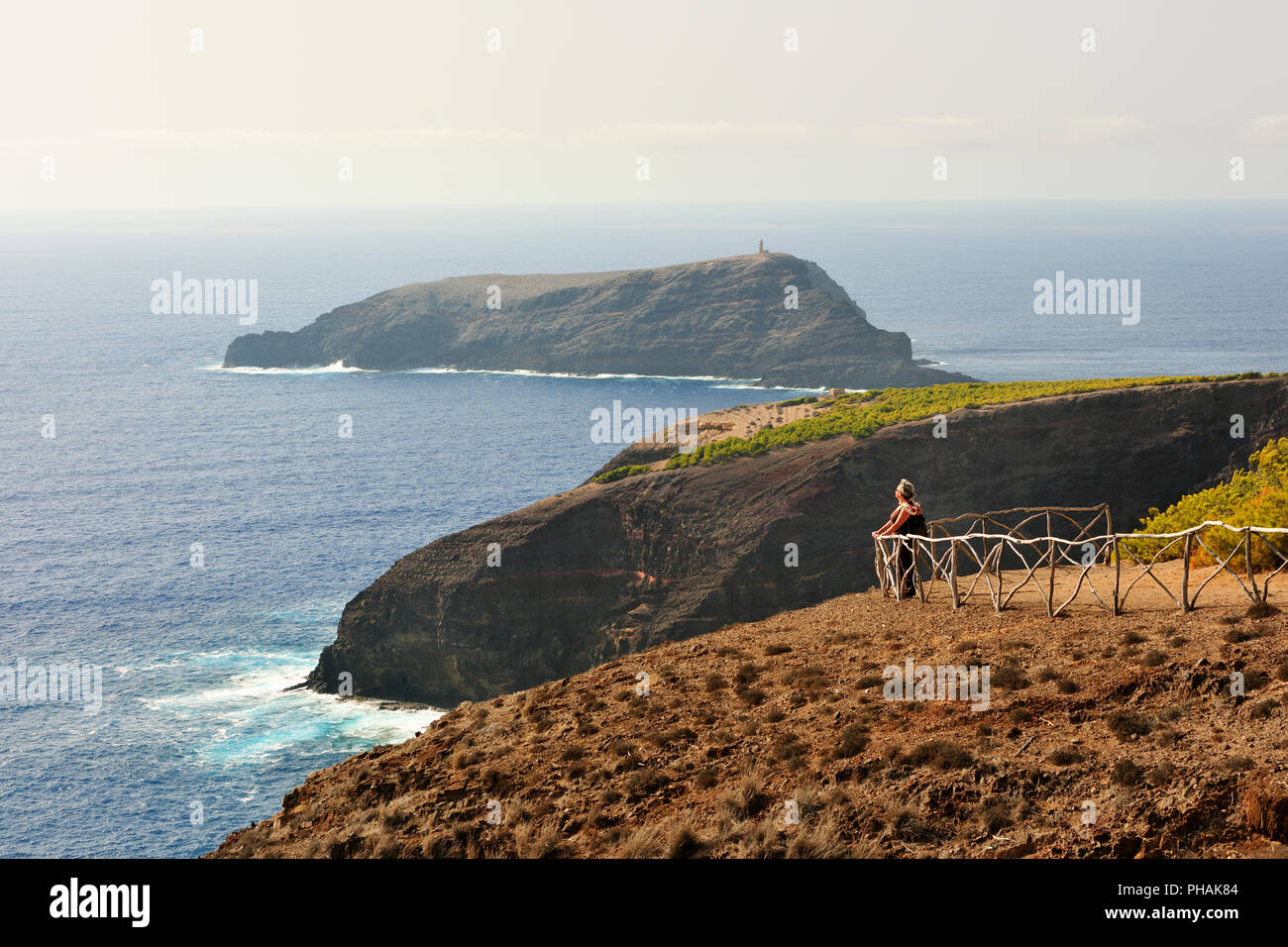 View of Ilhéu do Ferro. Porto Santo island, Madeira. Portugal - Stock Image