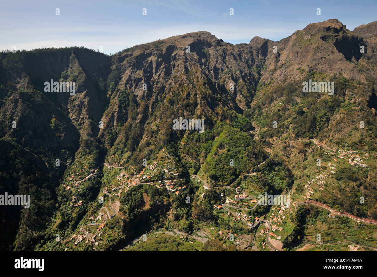 Curral das Freiras valley and village. Eira do Serrado. Madeira island, Portugal - Stock Image