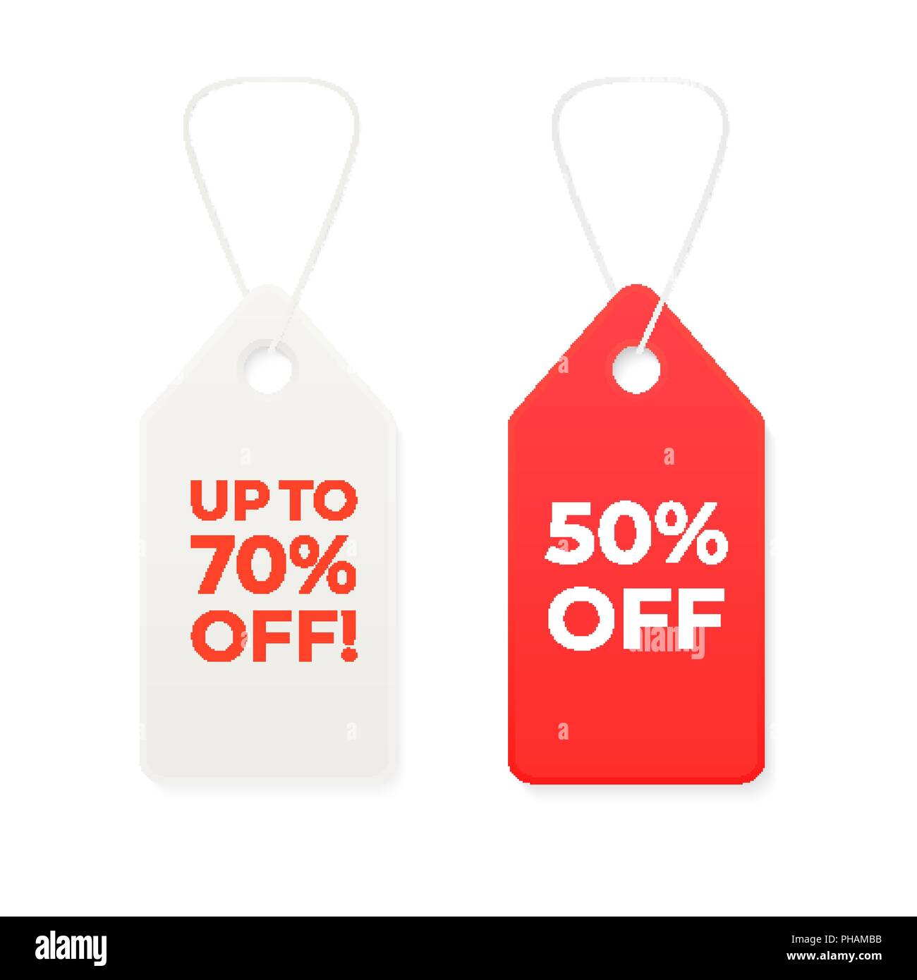 shopping sale label discount tag template for design stock vector