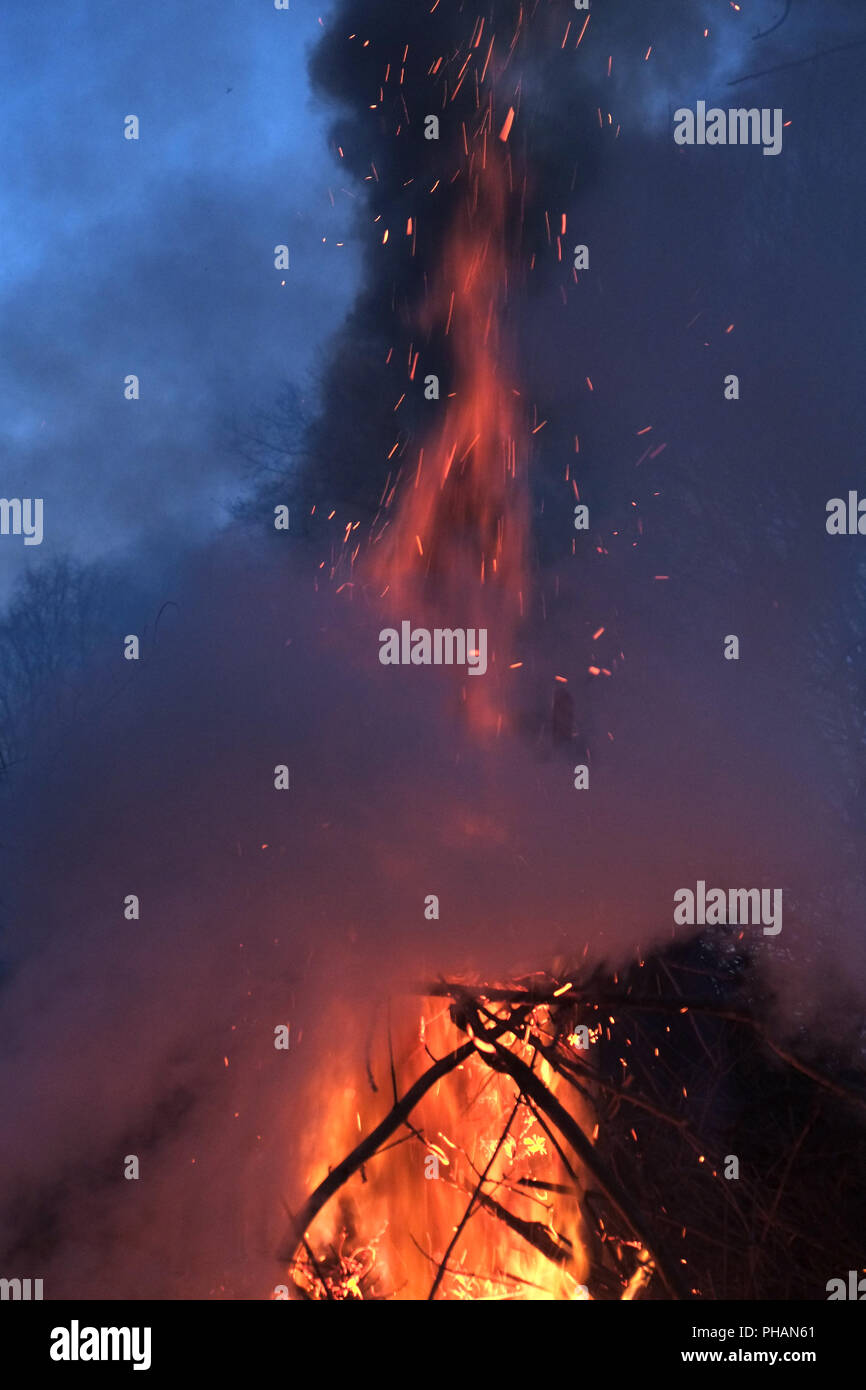 Conflagration, Easter Fire - Stock Image