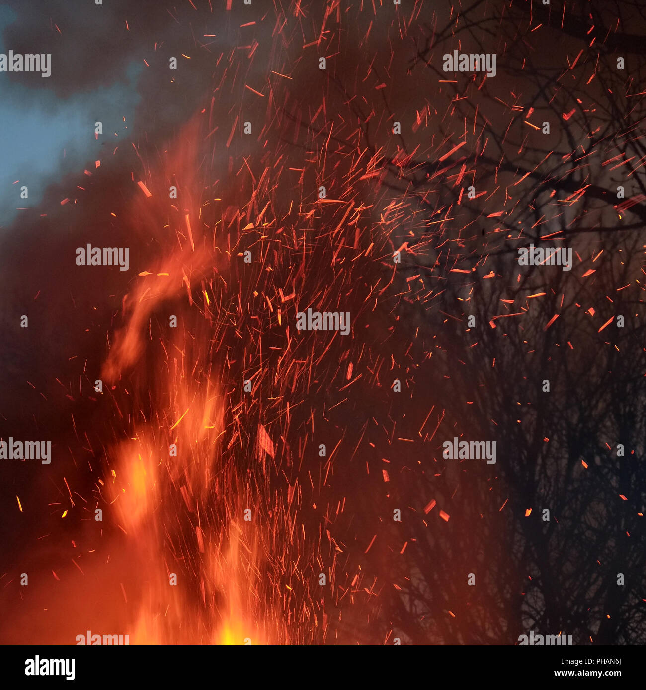 Conflagration, hellfire - Stock Image