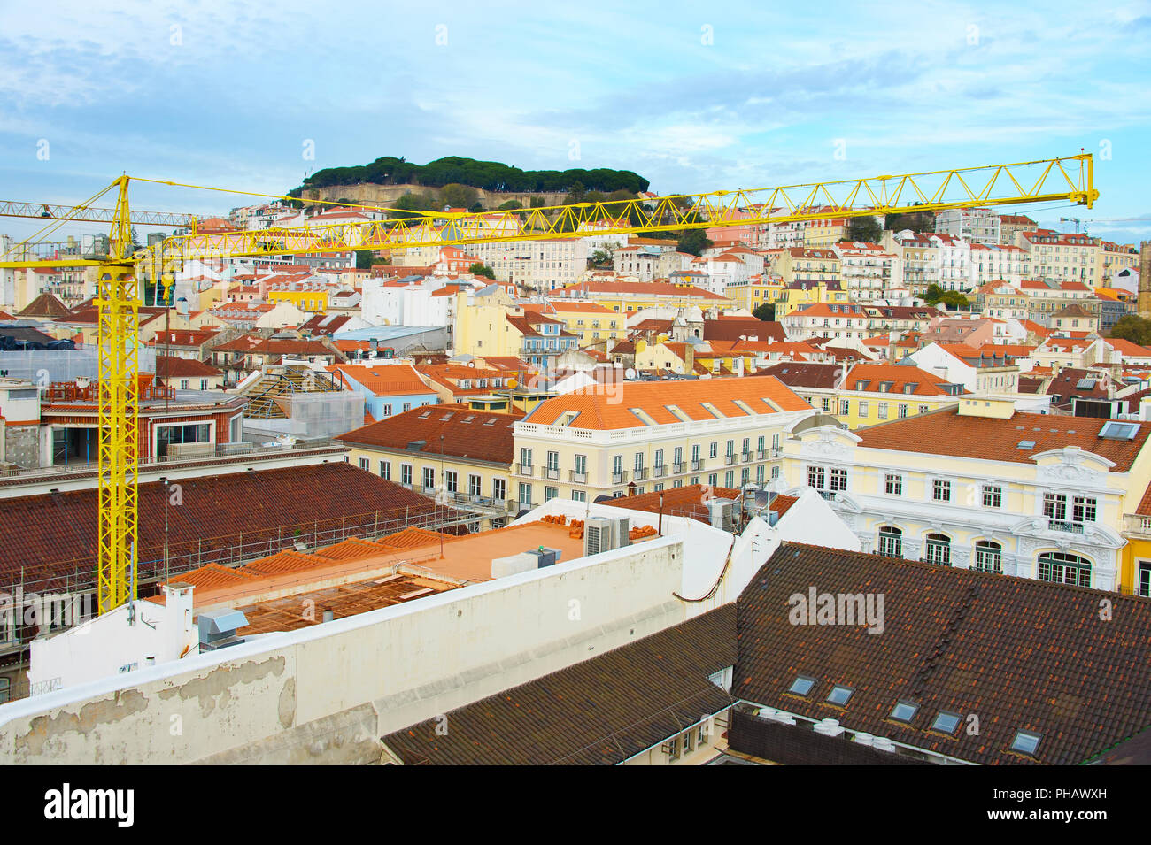 Lisbon Old Twon renovation, Portugal - Stock Image