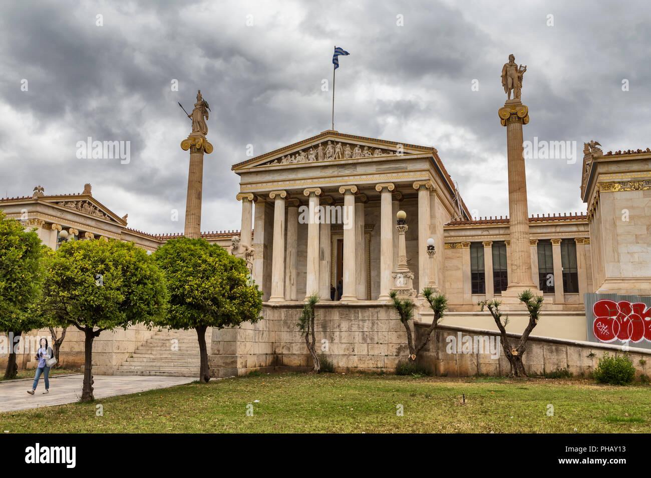Academia (1887), Athens, Greece - Stock Image