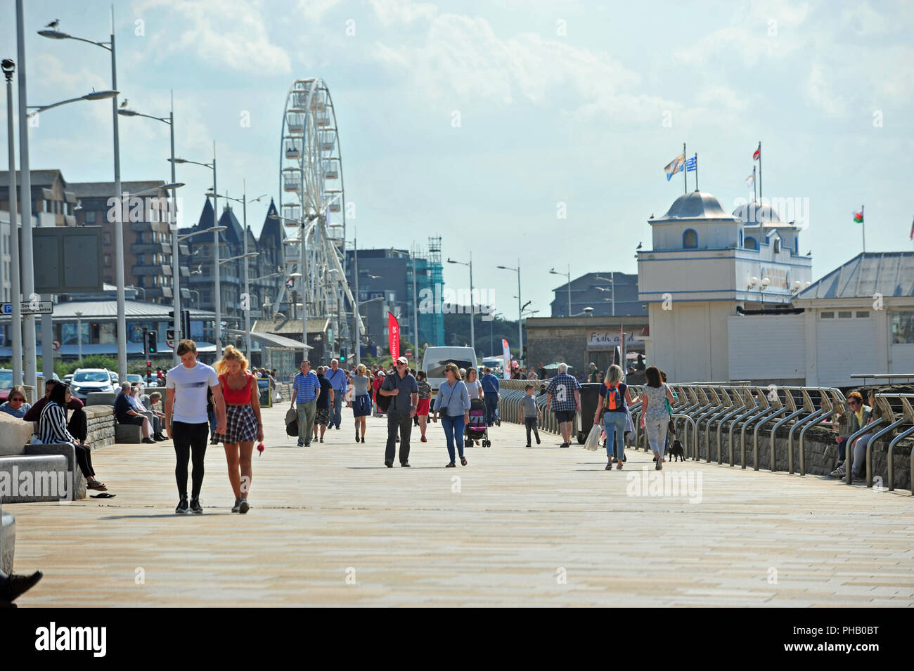 UK Weather. Record numbers of Visitors to Weston Super Mare up due to the Hot Weather this year. Pictures show this afternoon friday the 31st last day of August people enjoying the very hot summers sun , beach relaxing, children on the world famous Donkey rides and walking along the promenade front. Robert Timoney/Alamy/live/News Stock Photo