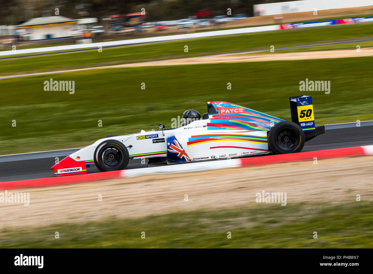 MELBOURNE, AUSTRALIA – SEPTEMBER 1: Ardie Jonic driving the Jonic Motors Formula 4 during the 2018 Shannon's Nationals, Round 5 - Winton, Australia on September 01 2018. Credit: Dave Hewison Sports/Alamy Live News - Stock Image