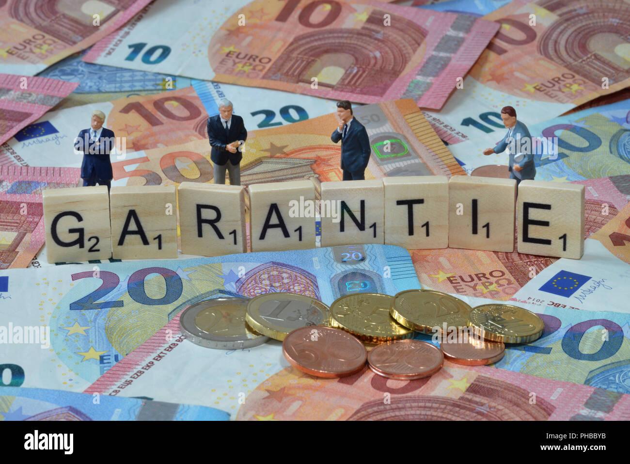 Symbolfoto Wirtschaftsbegriff Garantie Stock Photo