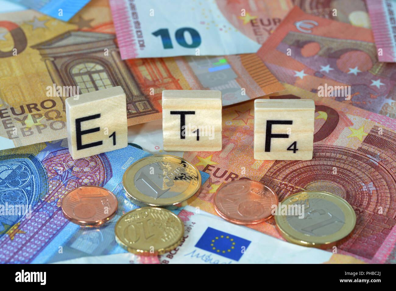 Symbolfoto Wirtschaftsbegriff ETF - Stock Image