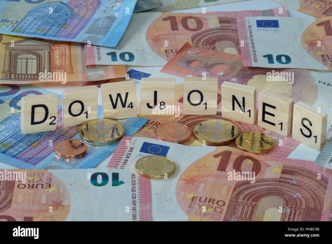 Symbolfoto Wirtschaftsbegriff Dow Jones - Stock Image