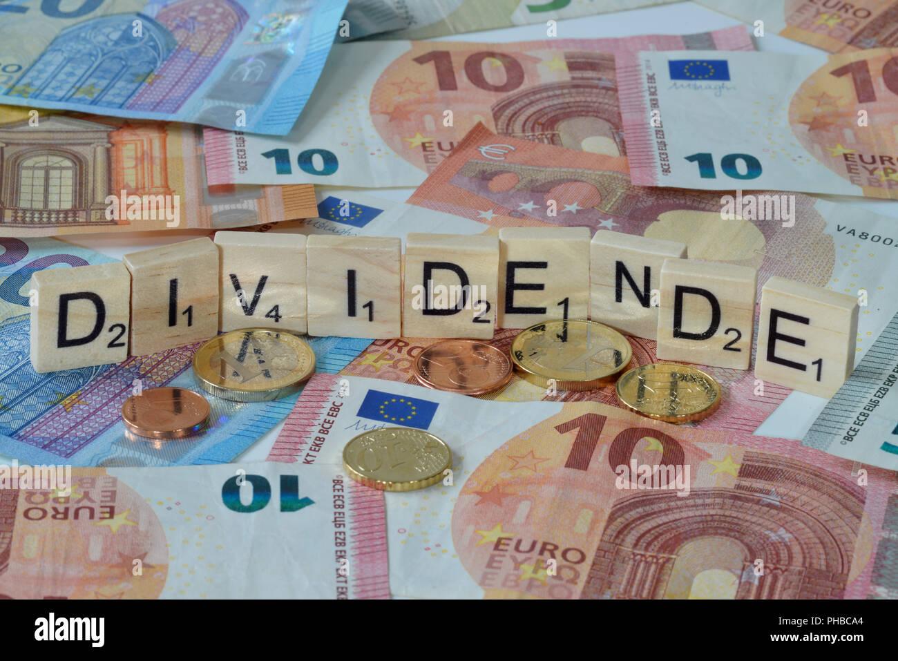 Symbolfoto Wirtschaftsbegriff Dividende - Stock Image