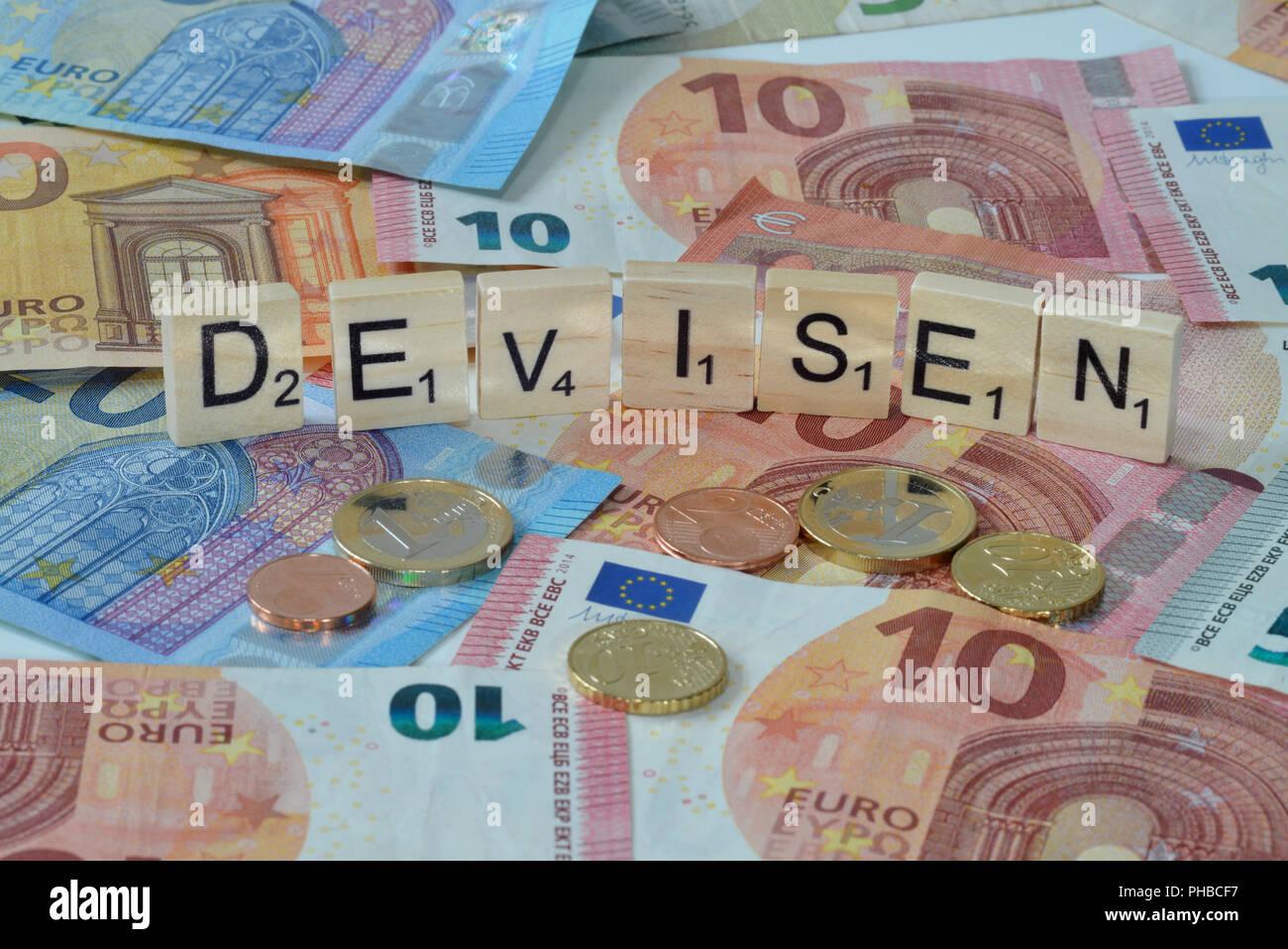 Symbolfoto Wirtschaftsbegriff Devisen - Stock Image