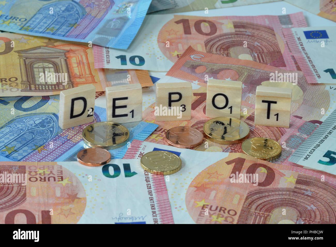 Symbolfoto Wirtschaftsbegriff Depot - Stock Image
