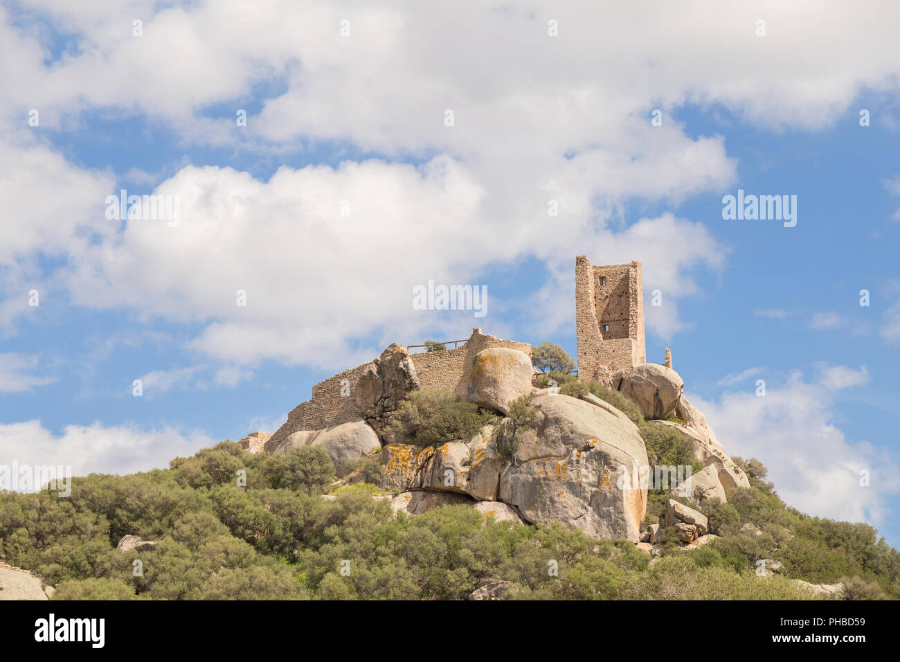 Castle of Pedres - Olbia Sardinia - Stock Image
