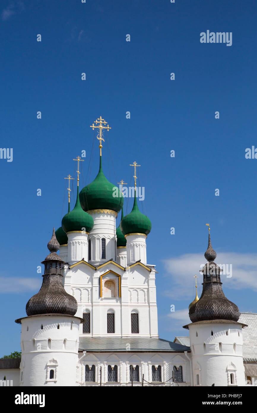 Gate Church of St. John the Divine, Kremlin, Rostov Veliky, Golden Ring, Yaroslavl Oblast, Russia, Europe - Stock Image