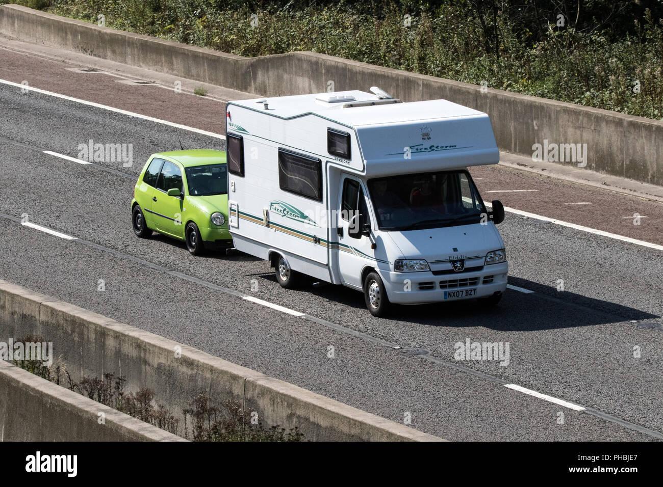 Peugeot Boxer Lx Mwb Hdi Motorhome Caravan Camper Van Stock Photo Alamy