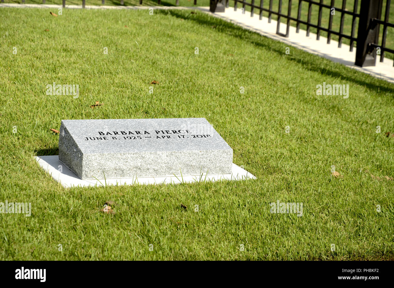 Barbara Bush Burial Site At The George Bush Presidential Library On