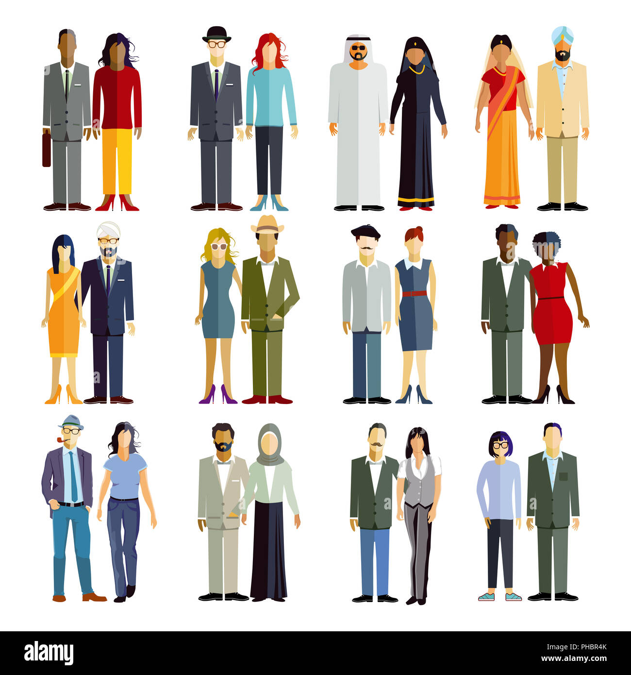an international group of persons - Stock Image
